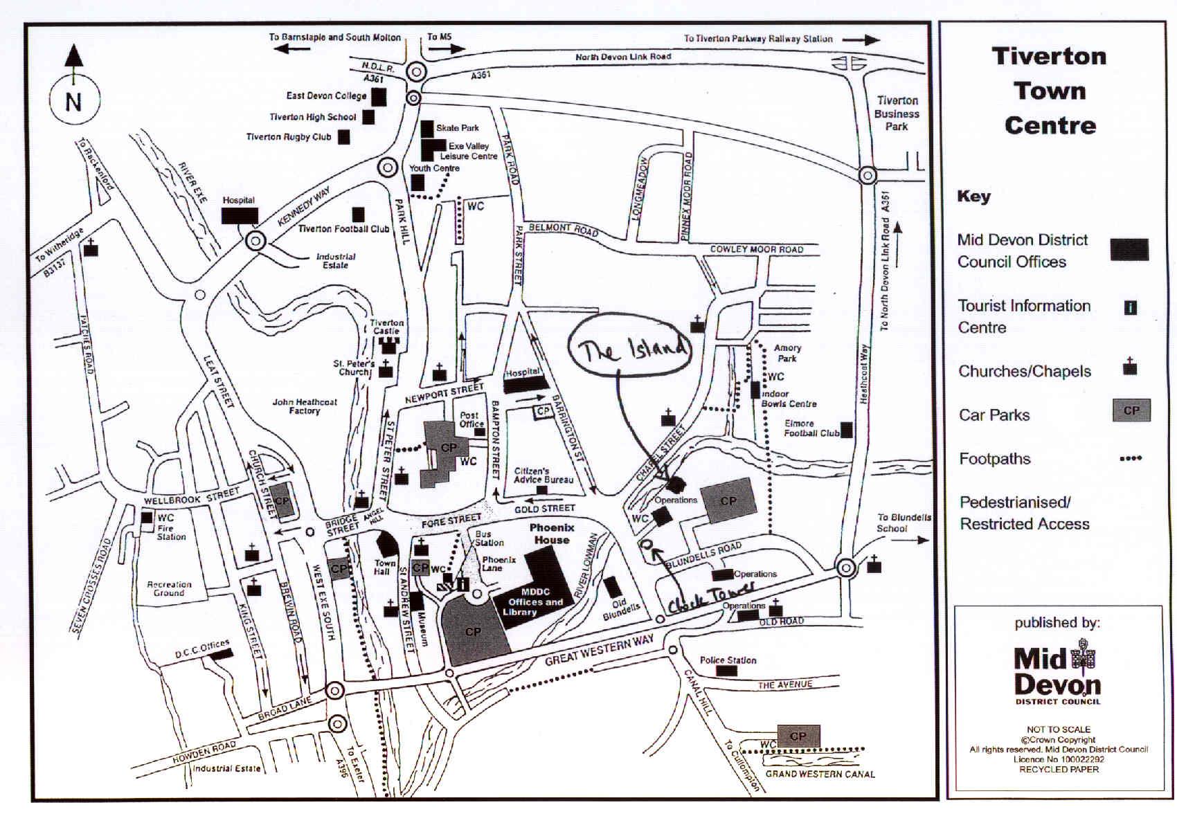 Tiverton Town Center Map