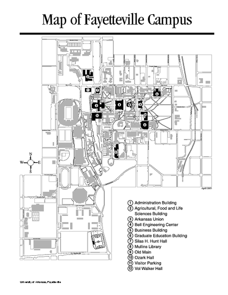 University Of Central Arkansas Campus Map