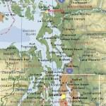 Washington State West Coast Map Anacortes Washington Mappery
