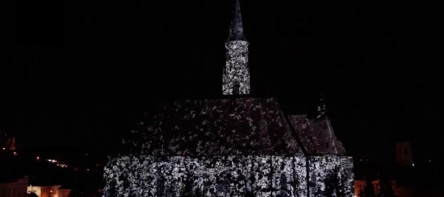 3D mapping на фасаде Церкви Святого Михаила