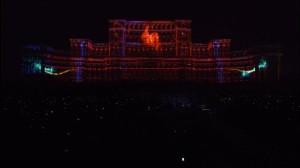 Поразительный 3D mapping на бухарестском Дворце Парламента