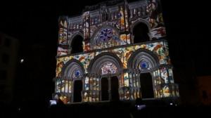Испанский Кафедральный Собор и архитектурный видеомэппинг на его фасаде