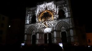 Испанский Кафедральный Собор с архитектурным видеомэппингом