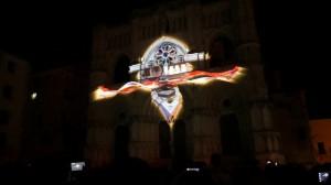 Удивительный видеомэппинг на испанский Кафедральный Собор
