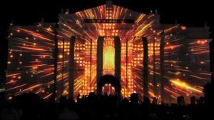 Восхитительный видеомэппинг на индийском фестивале Mysore Dasara