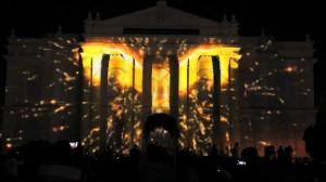 Красивый 3D mapping на индийском фестивале Mysore Dasara