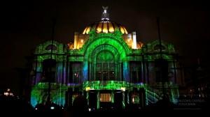 Дворец изящных искусств и архитектурный 3D mapping на его фасаде