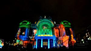 Видеомэппинг на фасаде Дворца изящных искусств