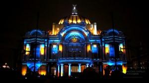 Архитектурный 3D mapping на Дворец изящных искусств