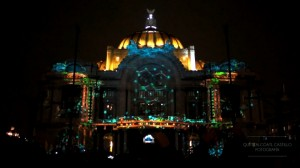 3D mapping на фасаде Дворца изящных искусств