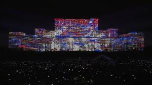 Дворец Парламента и архитектурный 3D mapping на его фасаде