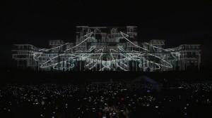 Дворец Парламента с архитектурным видеомэппингом