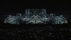 3D mapping на фасаде Дворца Парламента