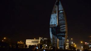"Видеомэппинг на ""Памятник Делу Революции"""