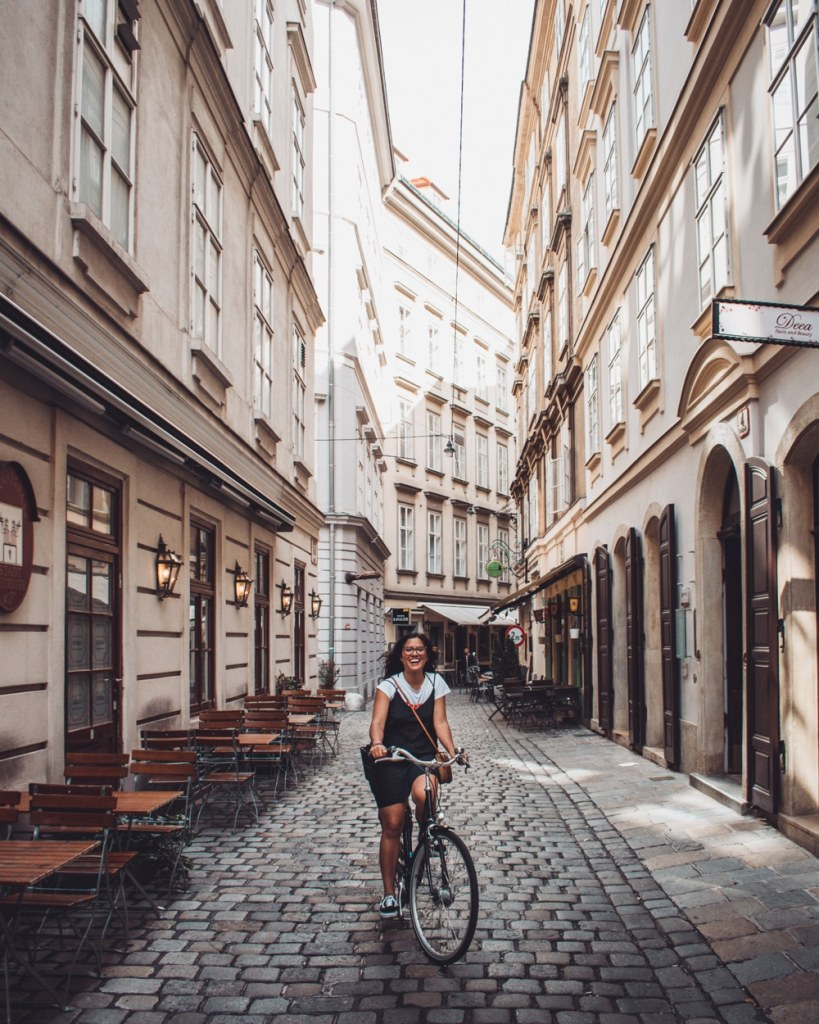 Vienna biking old streets