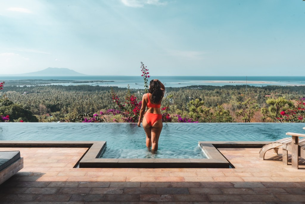 infinity pool in north bali at sumberkima hill