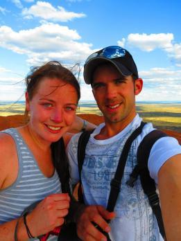 At the top of Uluru!