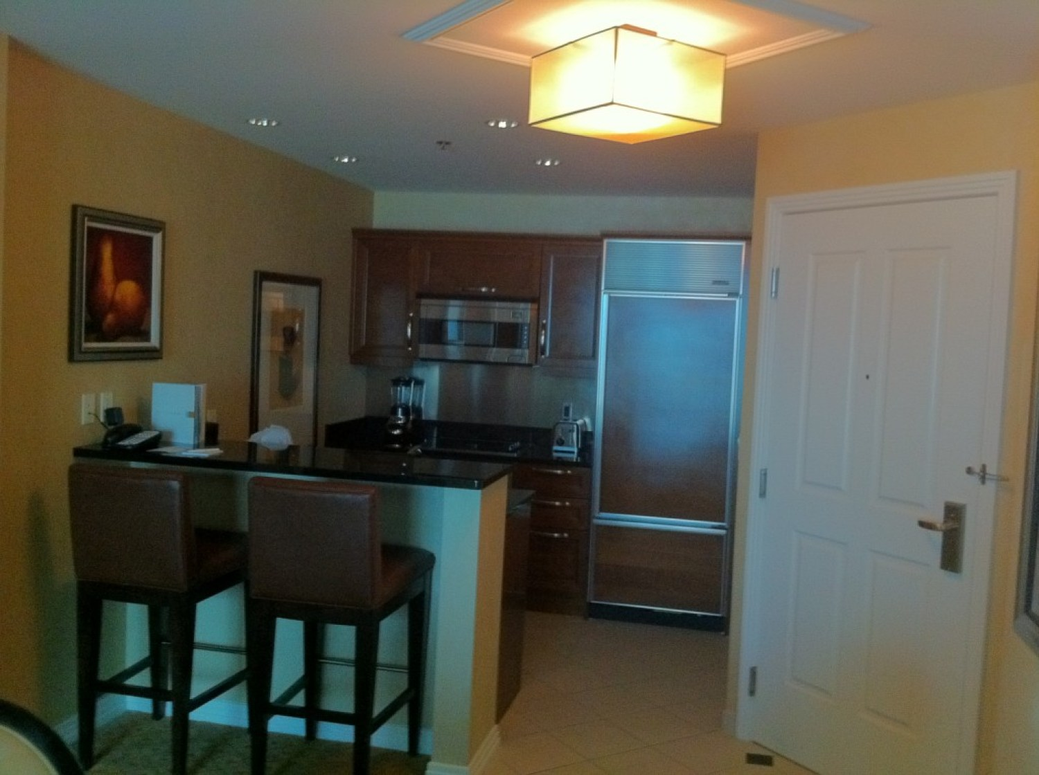 Gorgeous suite at the MGM Signature means cheap dinner!