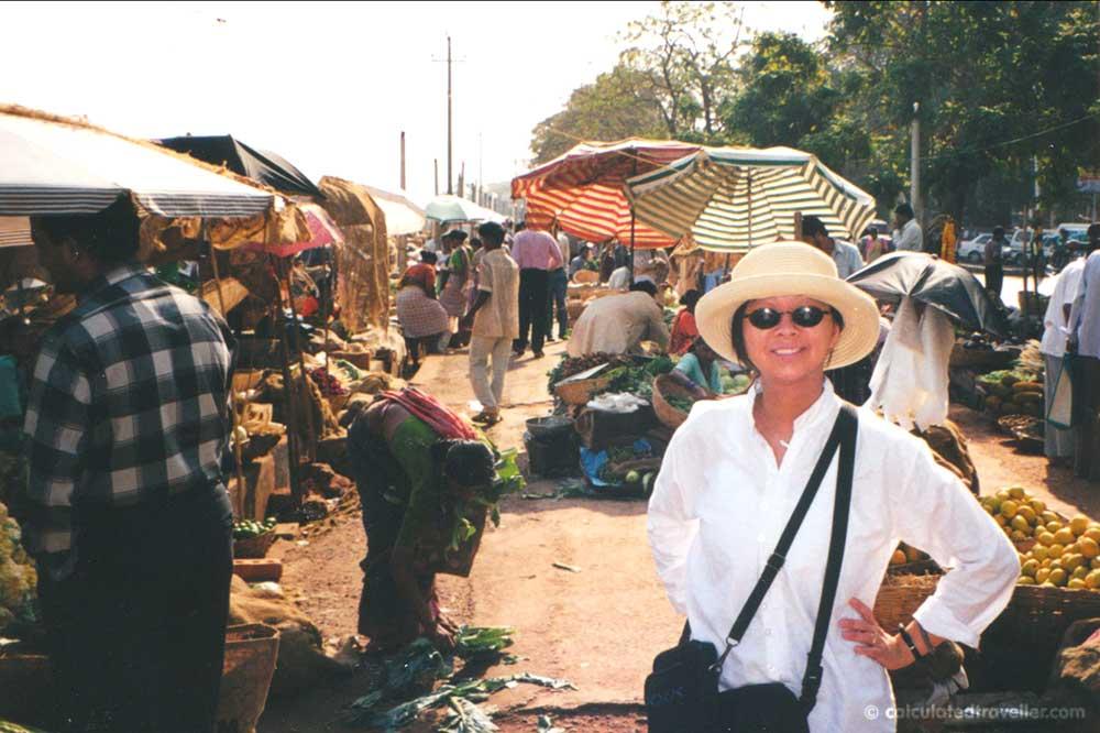 Panjim Morning Market in Goa, India.