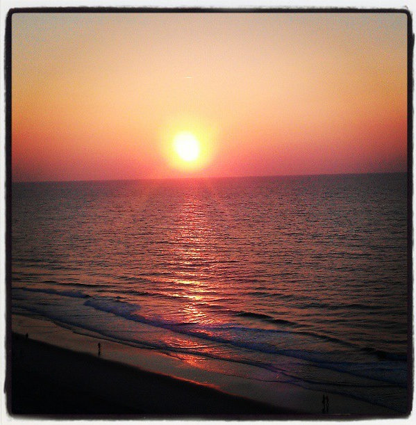 Watching the sunrise over Myrtle Beach from our balcony at Hampton Inn & Suites was truly spectacular.  I actually chose to wake up at 6am so not to miss it...a huge thing considering I'm NOT a morning person!