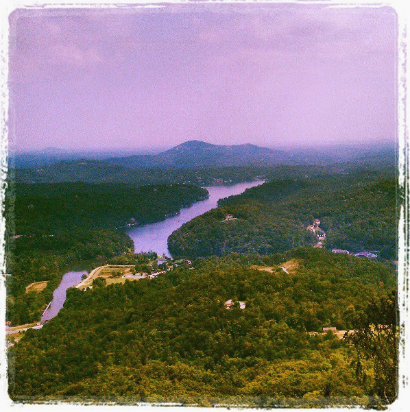 The view from Chimney Rock.  Beginning the Blue Ridge Parkway; the Hunger Games was filmed here!