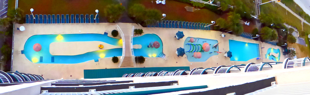 Hampton Inn pools...how many can you count?!