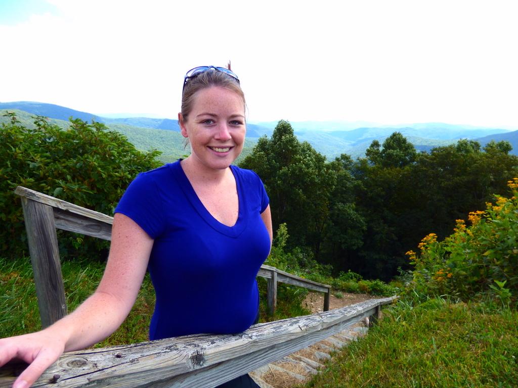 Overlooking the Blue Ridge Mountains