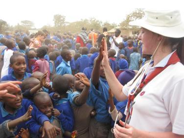 Volunteering in Kenya, 2010.