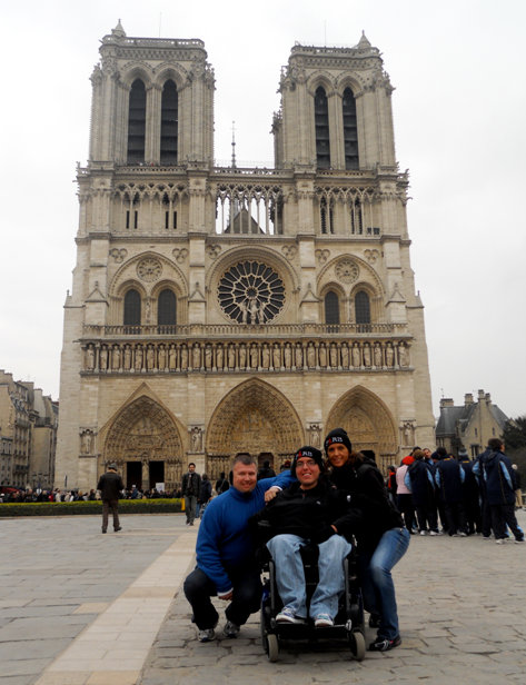 My mom, her boyfriend and I at Notre Dame in Paris.