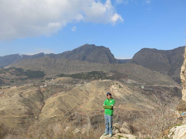 Jonny Blair enjoying the view of the mountains at Amadiya in Iraq.
