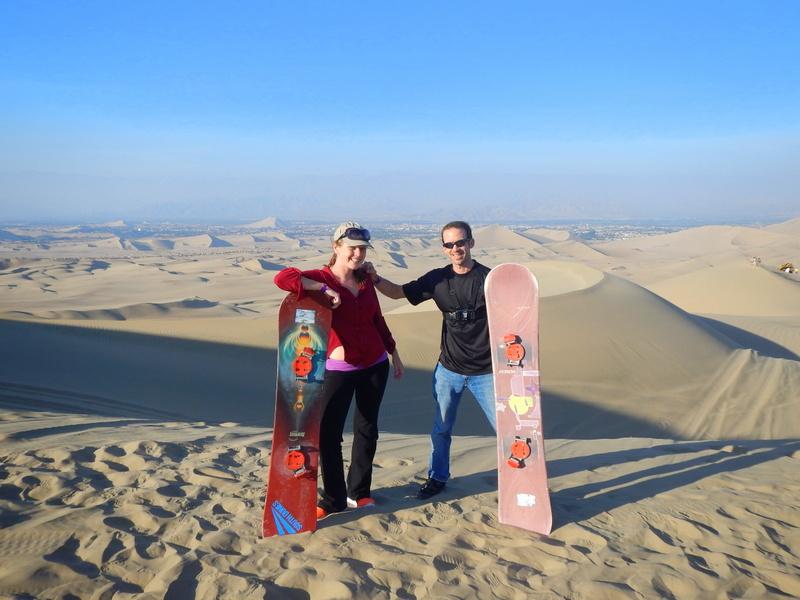 Sandboarding, Huacachina, Peru