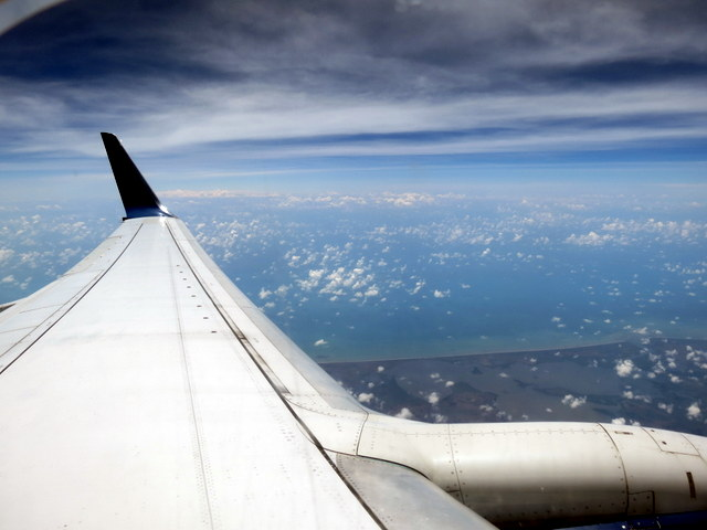 Stunning views even from the window seat.