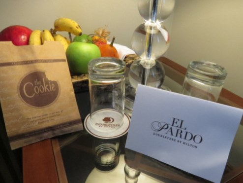 Exotic fruit platter on arrival in Lima.