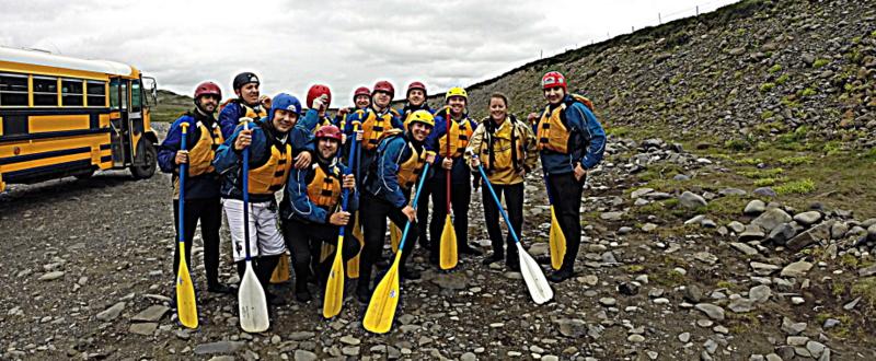 White Water Rafting Iceland.