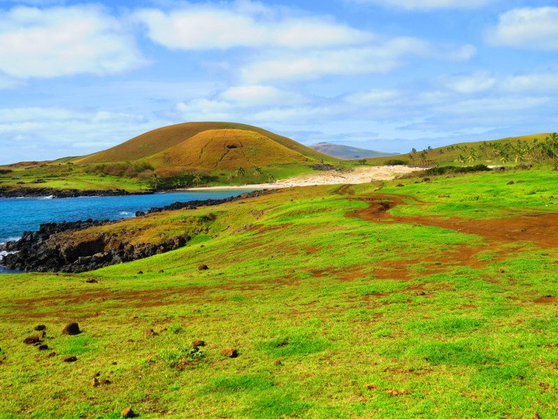 A typical Easter Island landscape.