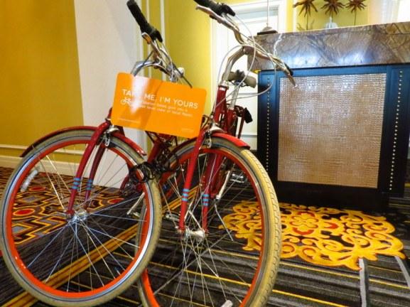 Complimentary bike use.