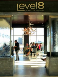 Level 8 Lounge - Hotel Duval's trendy rooftop bar.