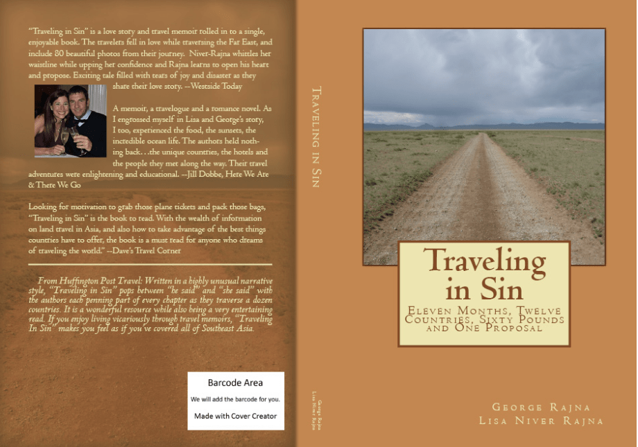 Traveling in Sin paperback book cover.