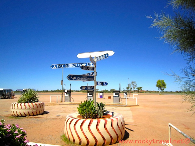 Fuel stations on route to Uluru.