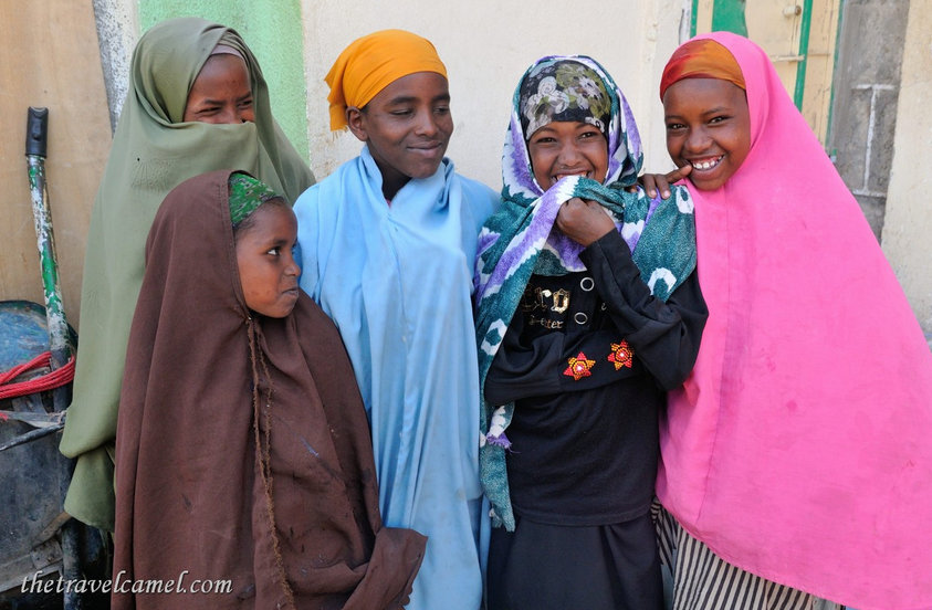 Happy Ethiopian Girls. Somaliland.