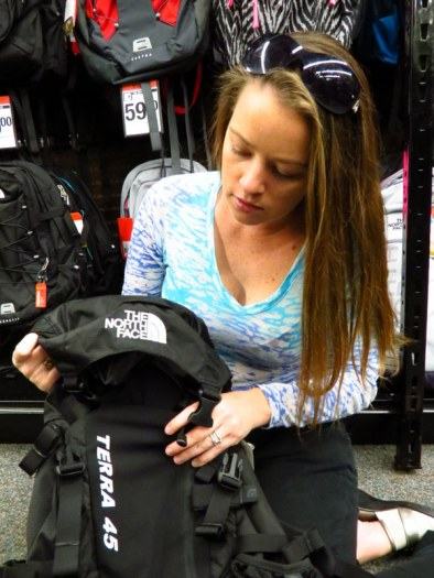 Shopping for a new hiking pack.