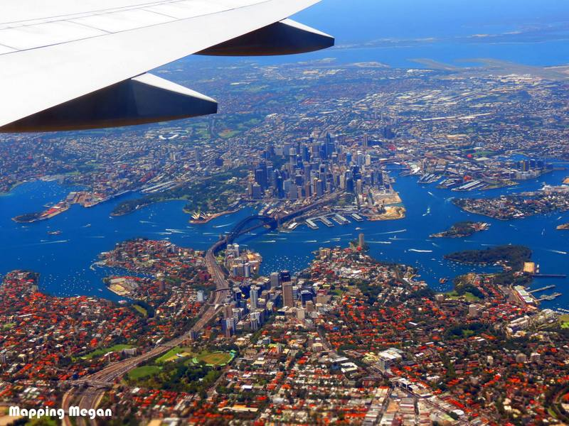 Sydney Harbor Birds Eye View