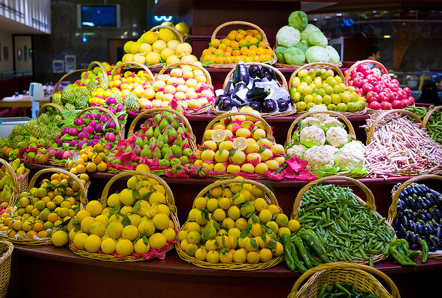 Fruit and veg in Duabi. Photo CC by