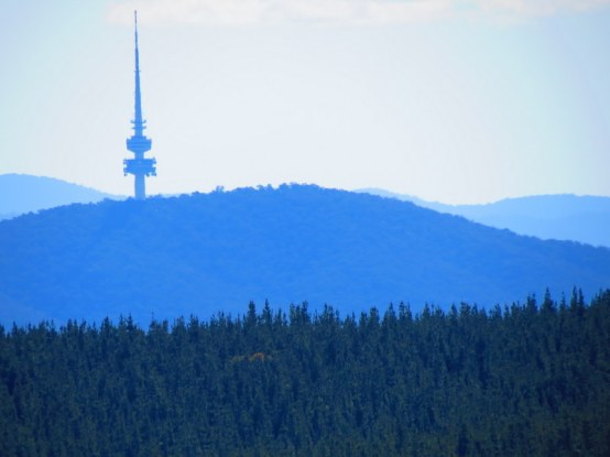 Telstra Tower and Black Mountain in Canberra, Australia.