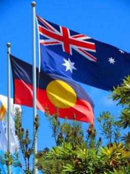The aboriginal and national Australian flag
