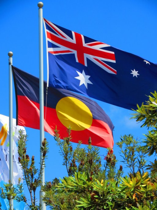 The aboriginal and national Australian flag