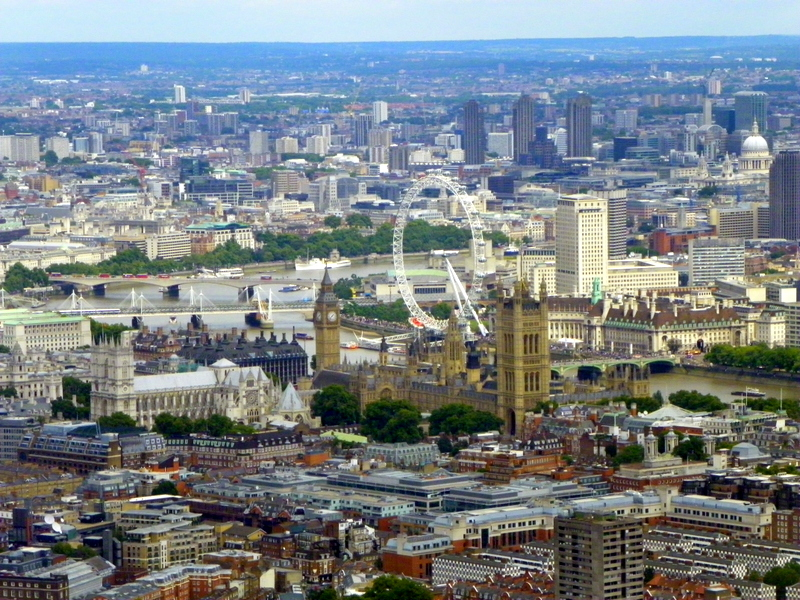 London helicopter view