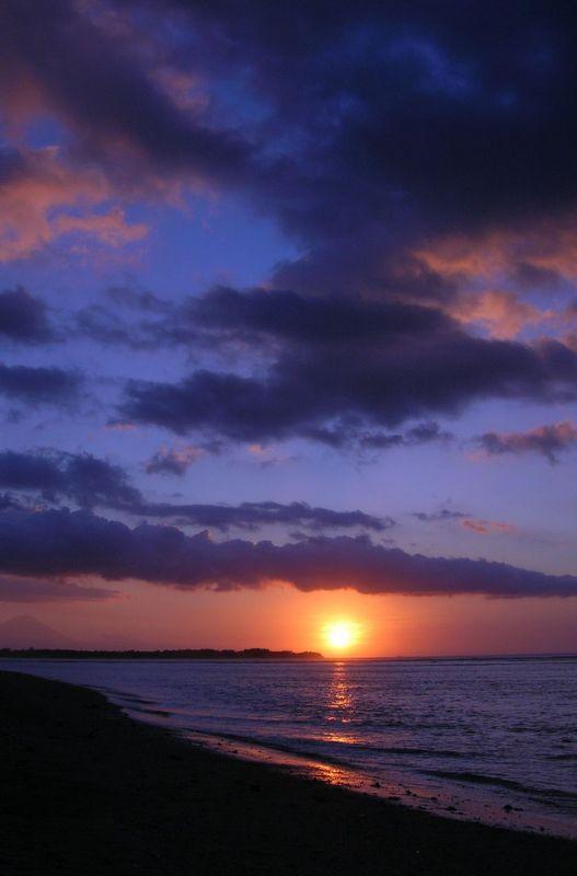 Gili Island Sunset in Indonesia