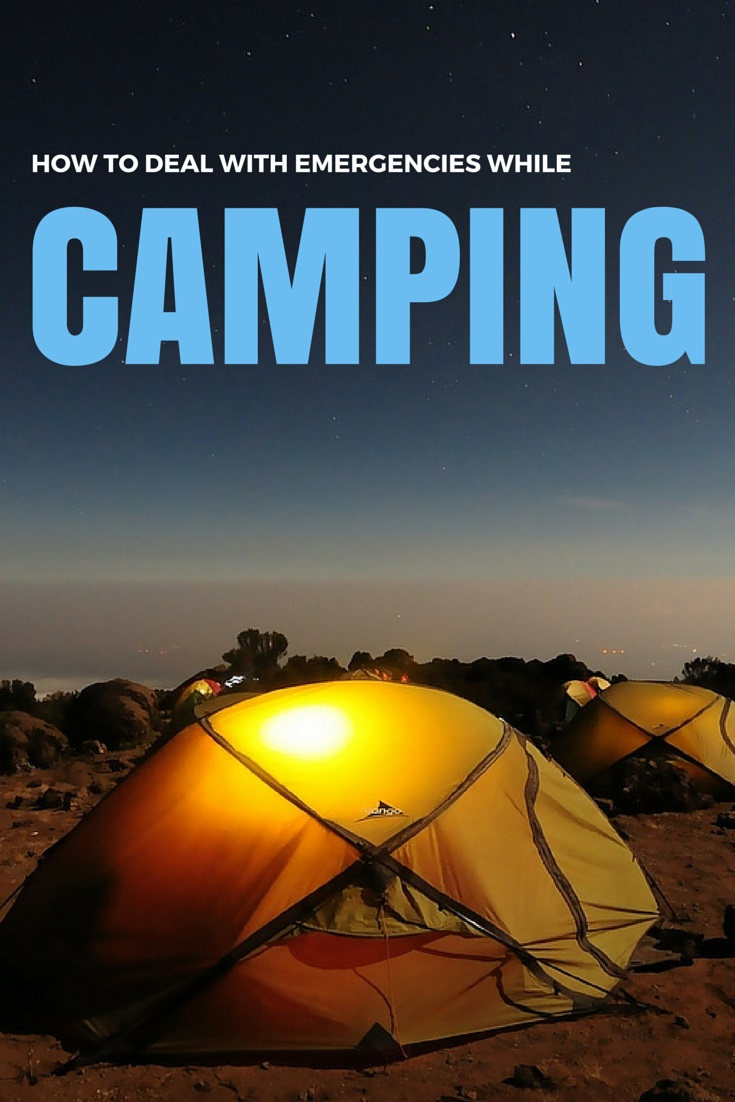 How to deal with emergencies while camping.