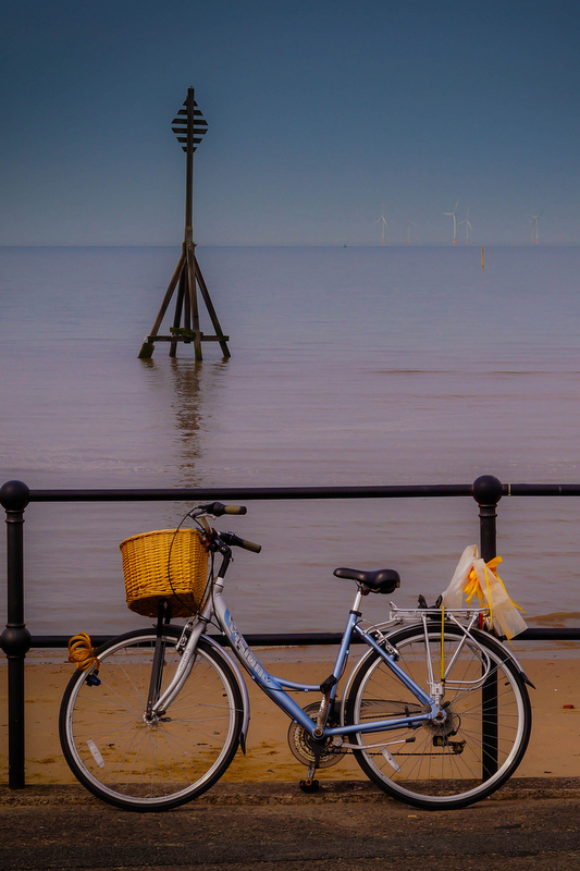 Bike on the beach.